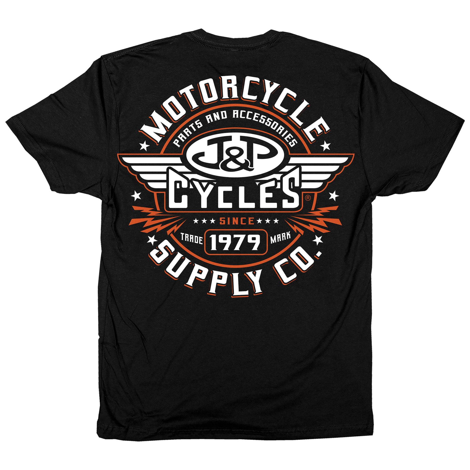 J&P Cycles Men's Rockstar Black T-Shirt