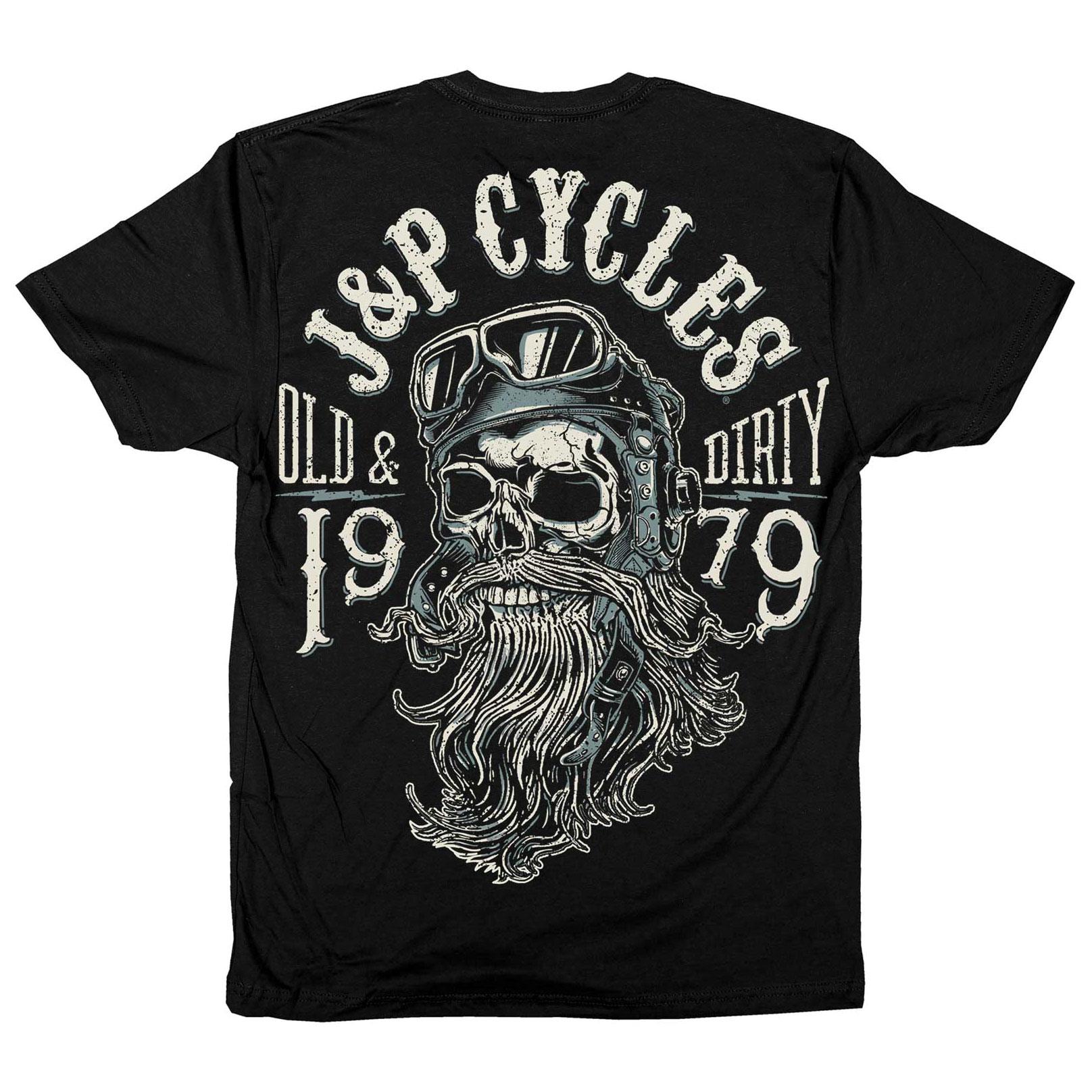J&P Cycles Men's Old & Dirty Black T-Shirt