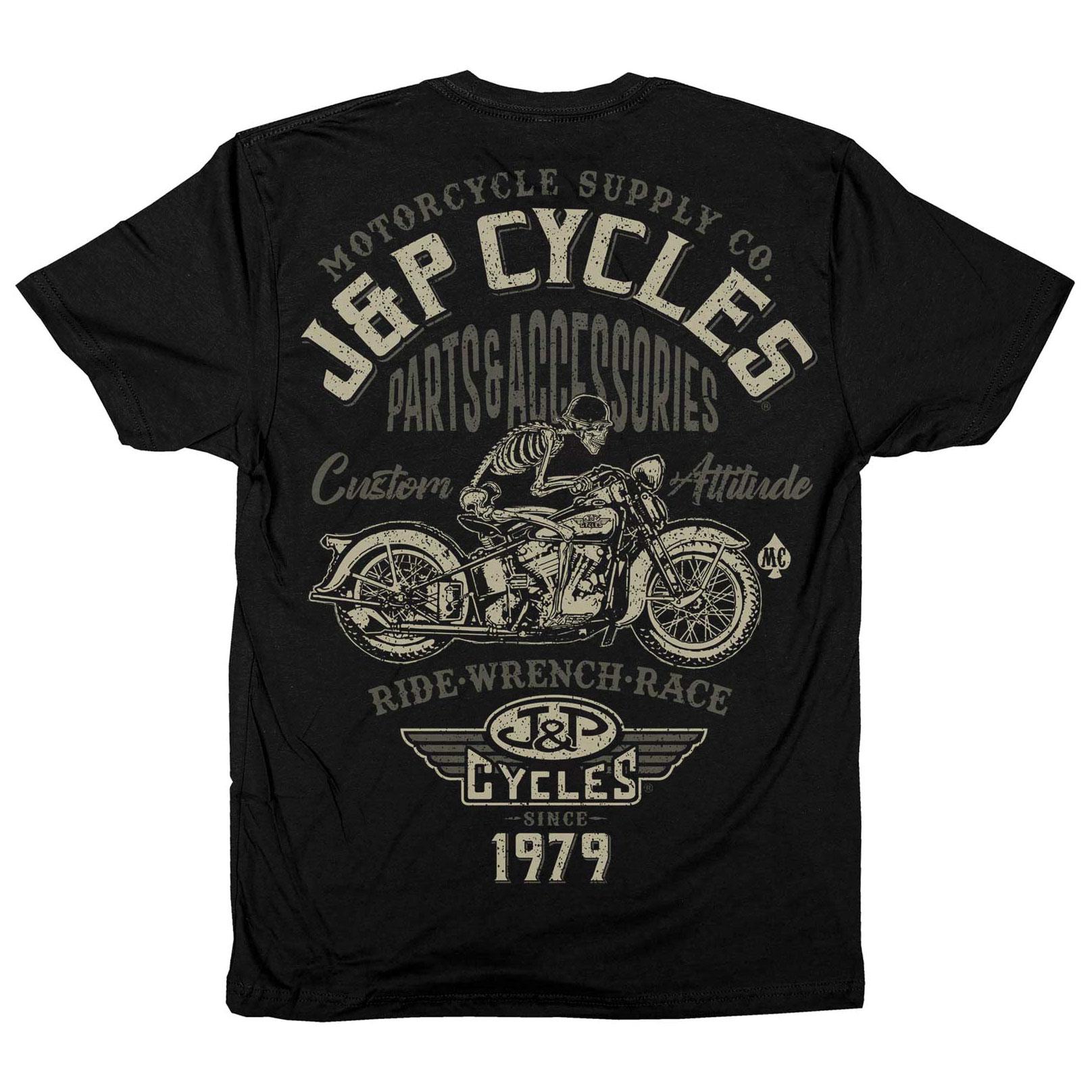 J&P Cycles Men's Outlaw Black T-Shirt