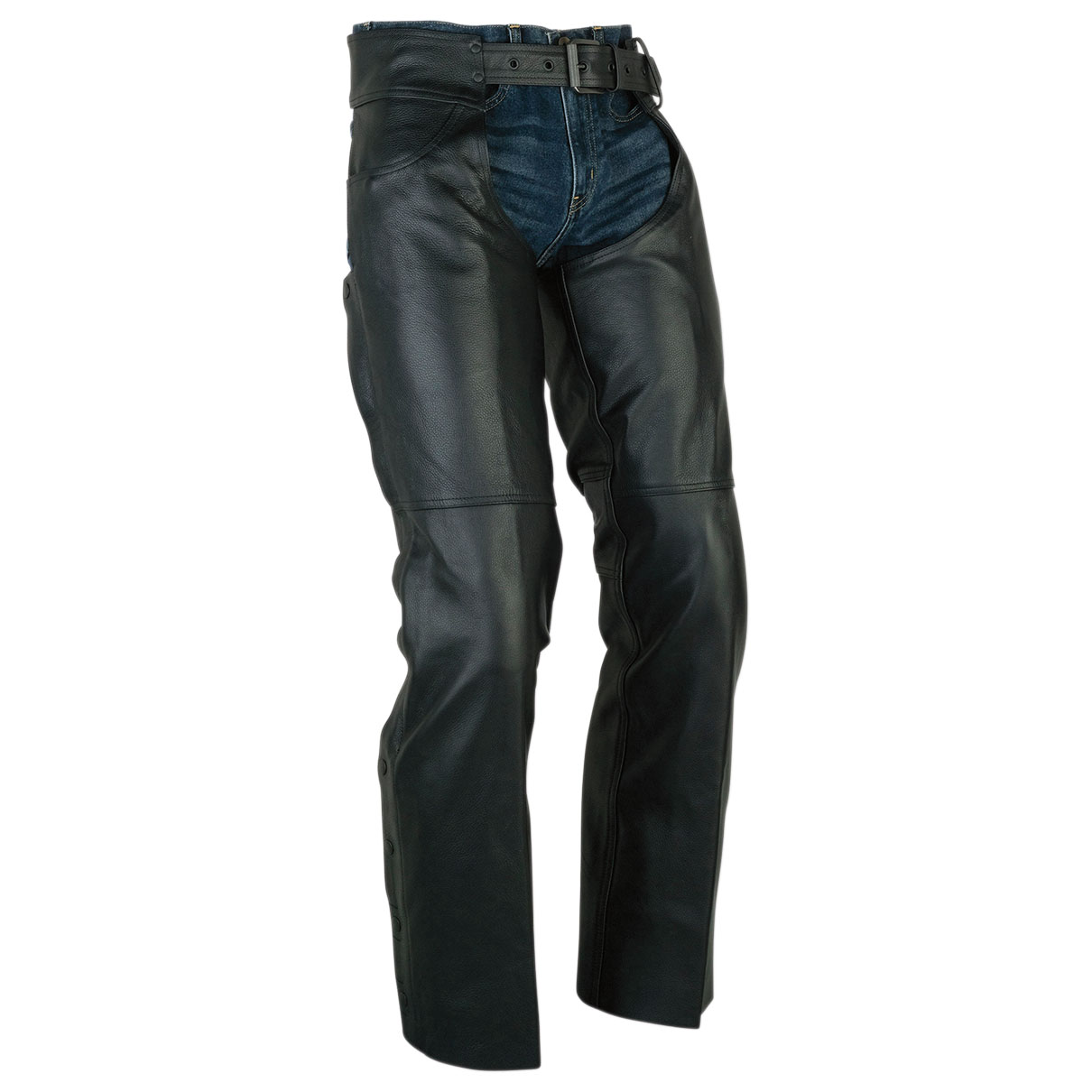 Z1R Men's Sabot Black Leather Chaps