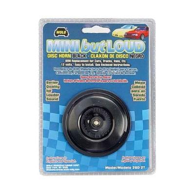 Wolo Black Mini Disc Style Horn