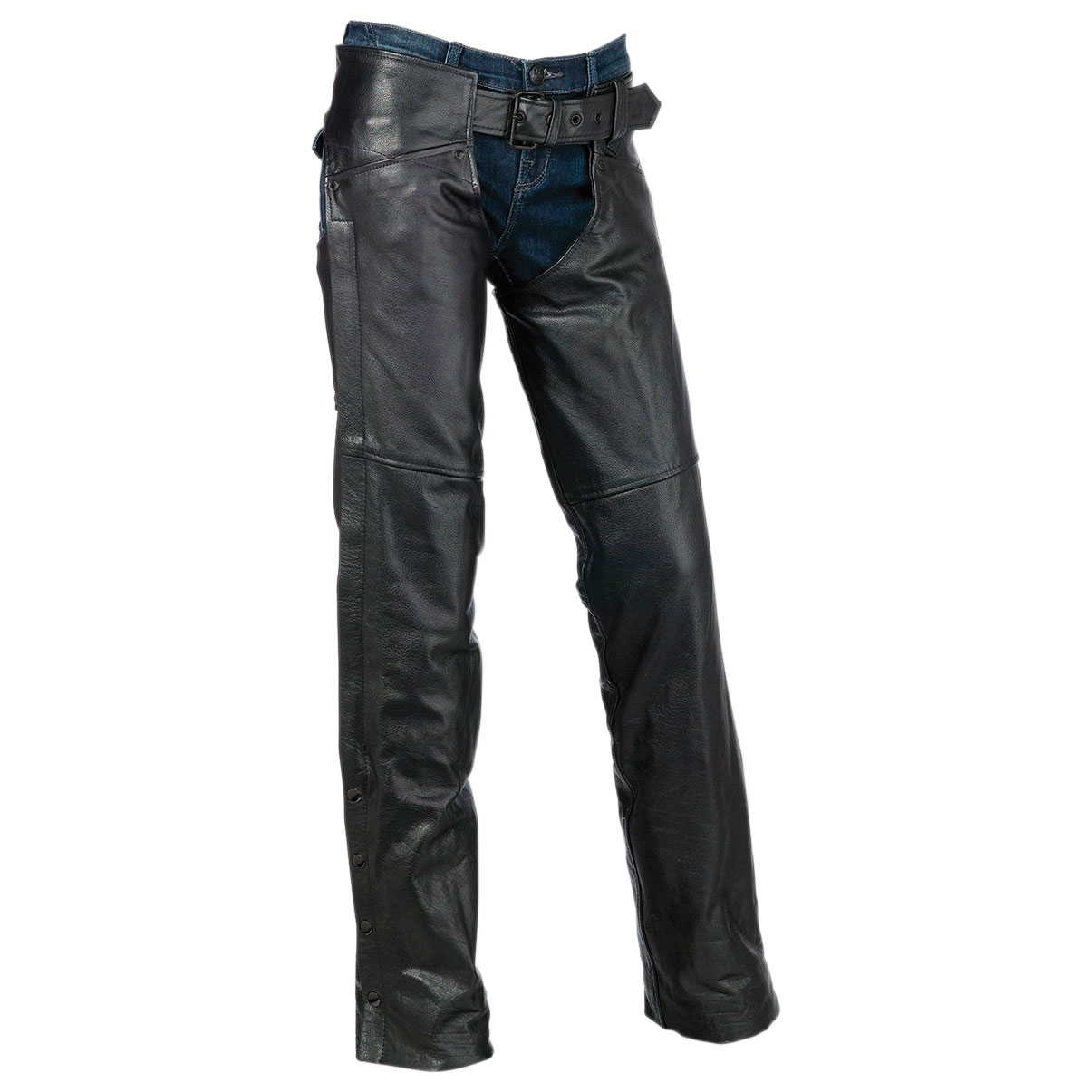 Z1R Women's Sabot Black Leather Chaps