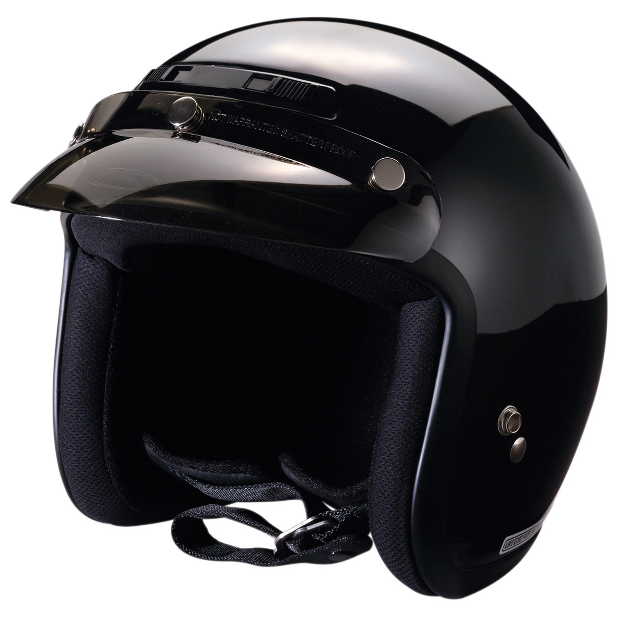 Z1R Jimmy Gloss Black Open Face Helmet