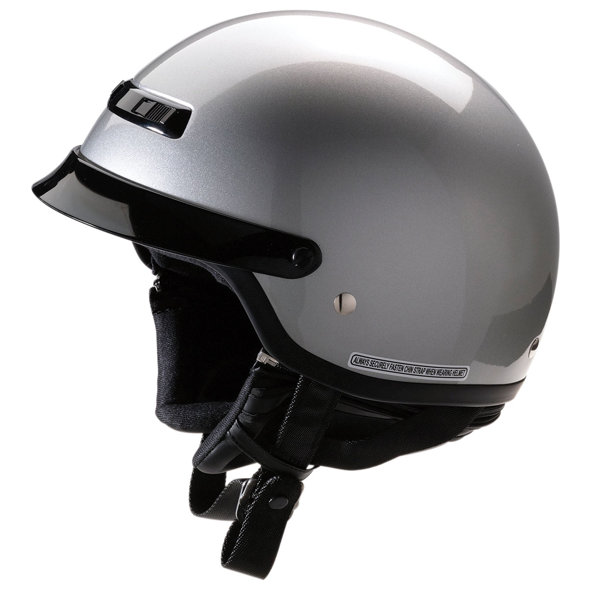 Z1R Nomad Silver Half Helmet