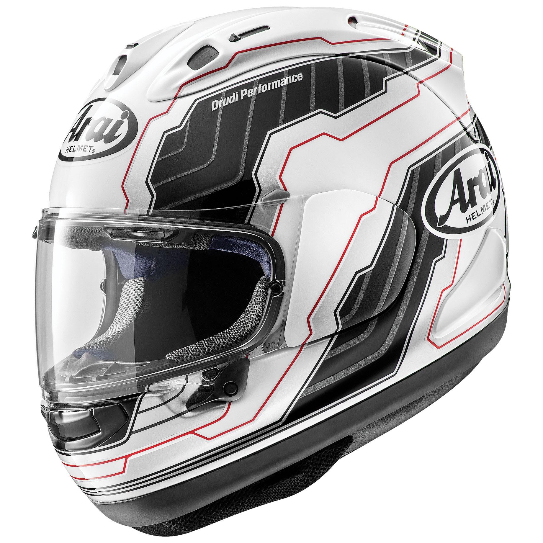 Arai Corsair-X Mamola Edge White Full Face Helmet