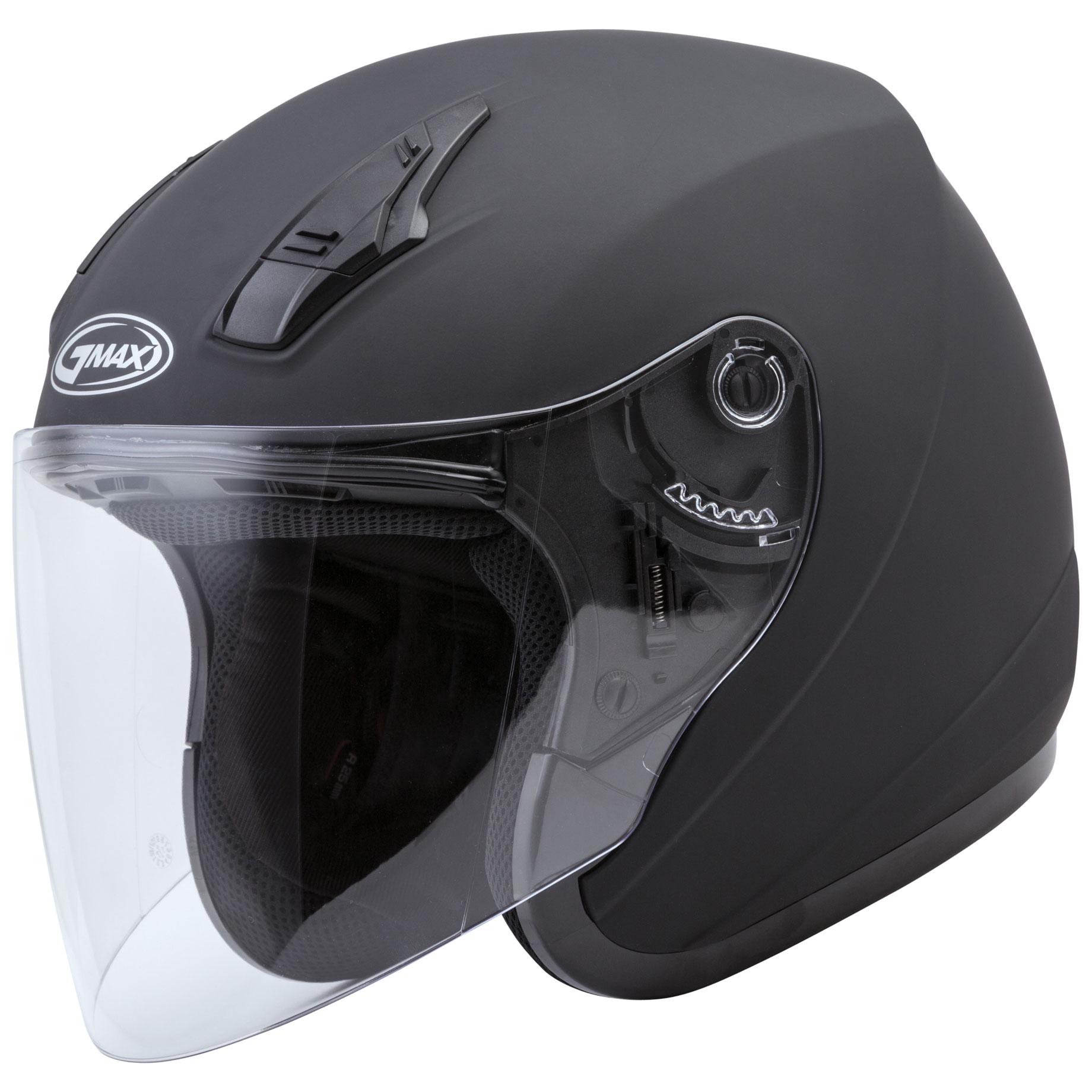 GMAX OF17 Matte Black Open Face Helmet