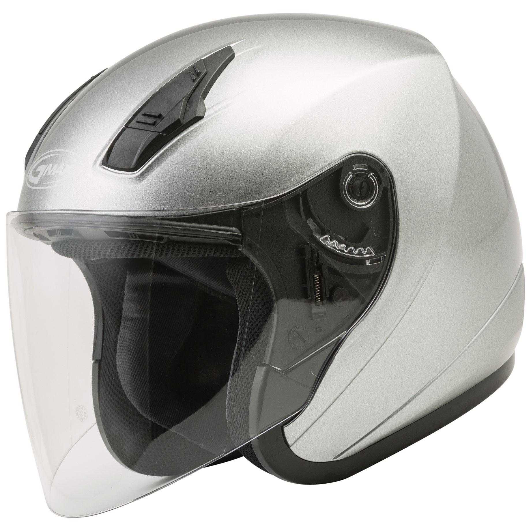 GMAX OF17 Dark Silver Open Face Helmet