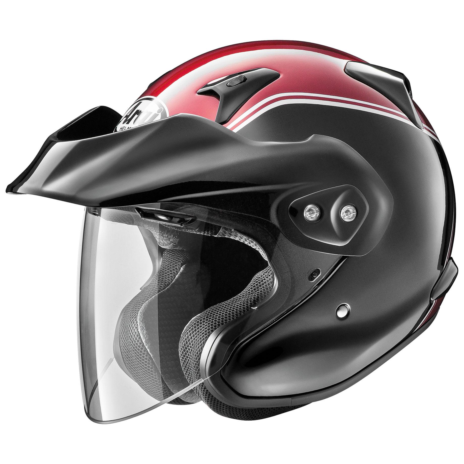 Arai XC-W Gold Wing Red Open Face Helmet