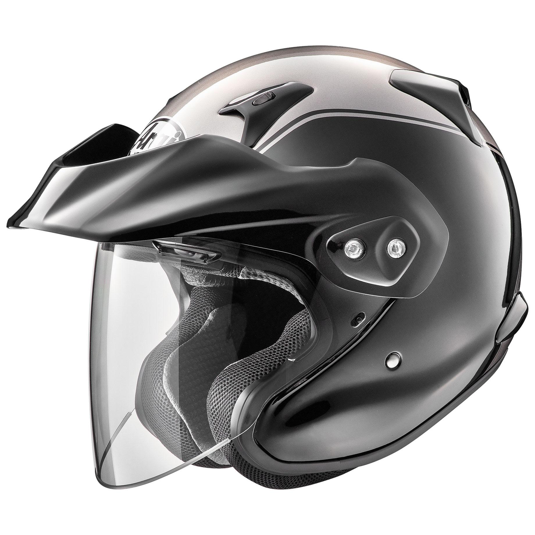 Arai XC-W Gold Wing Gray Open Face Helmet