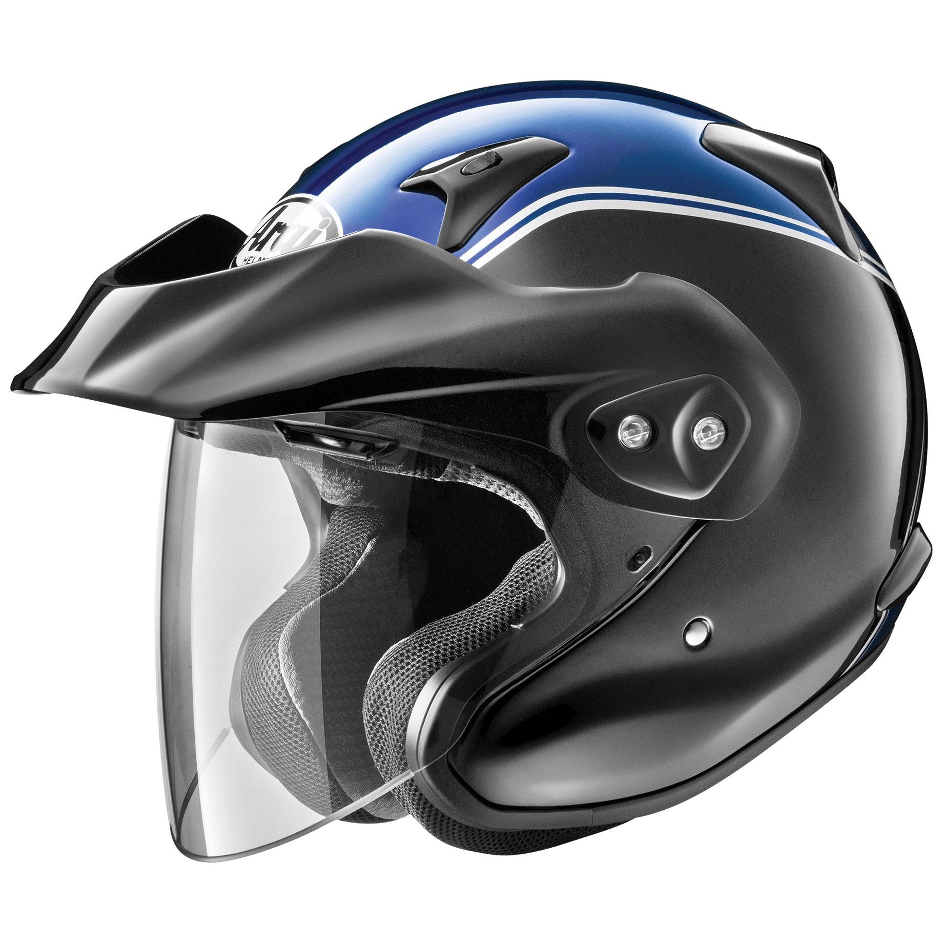 Arai XC-W Gold Wing Blue Open Face Helmet - 685311164803