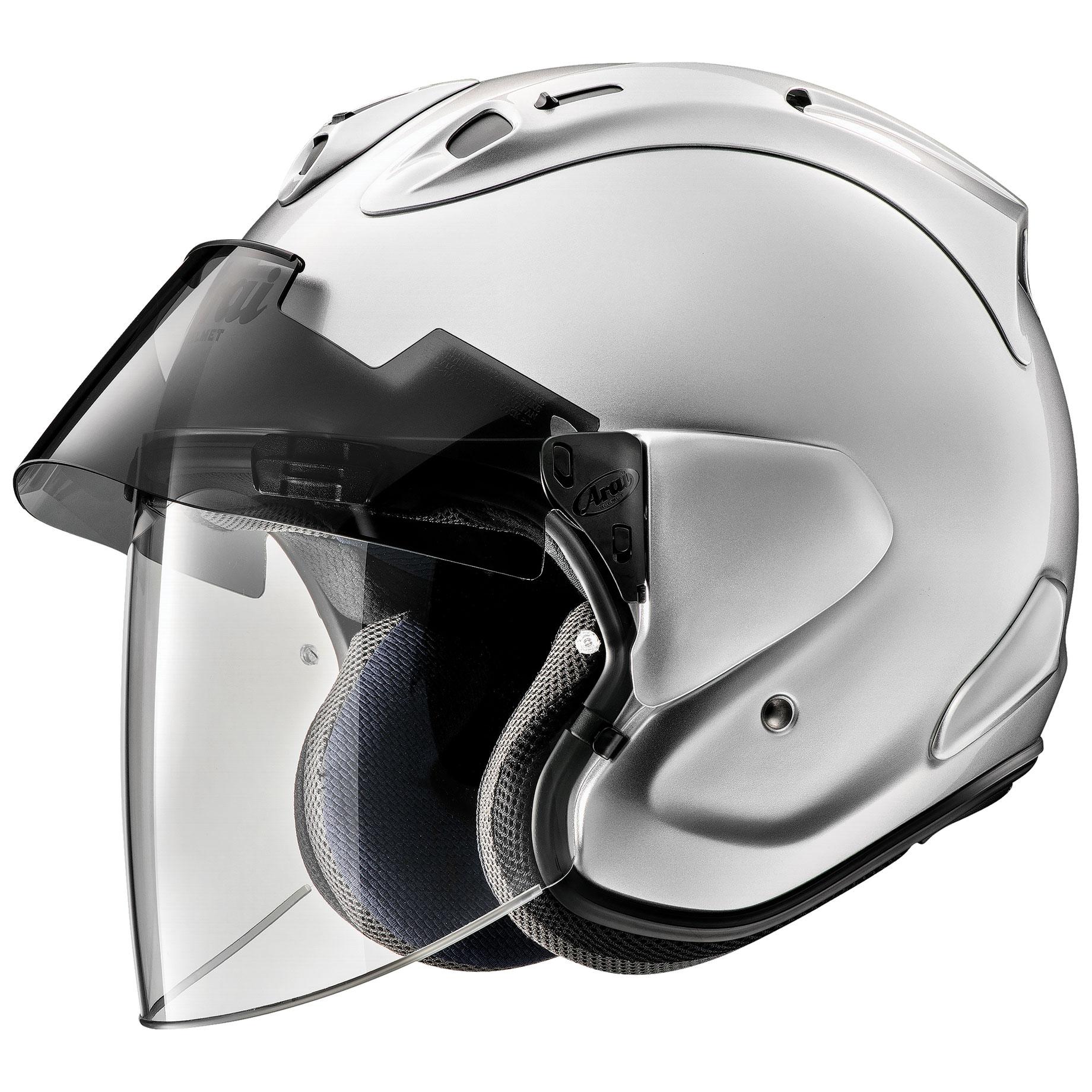 Arai Ram-X Aluminum Silver Open Face Helmet