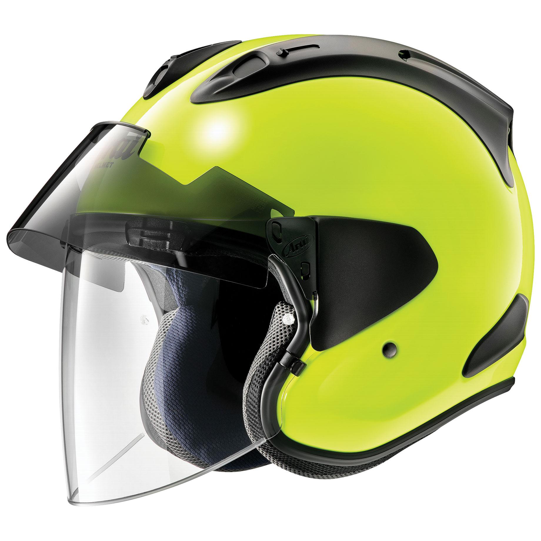 Arai Ram-X Flou Yellow Open Face Helmet - 685311163776