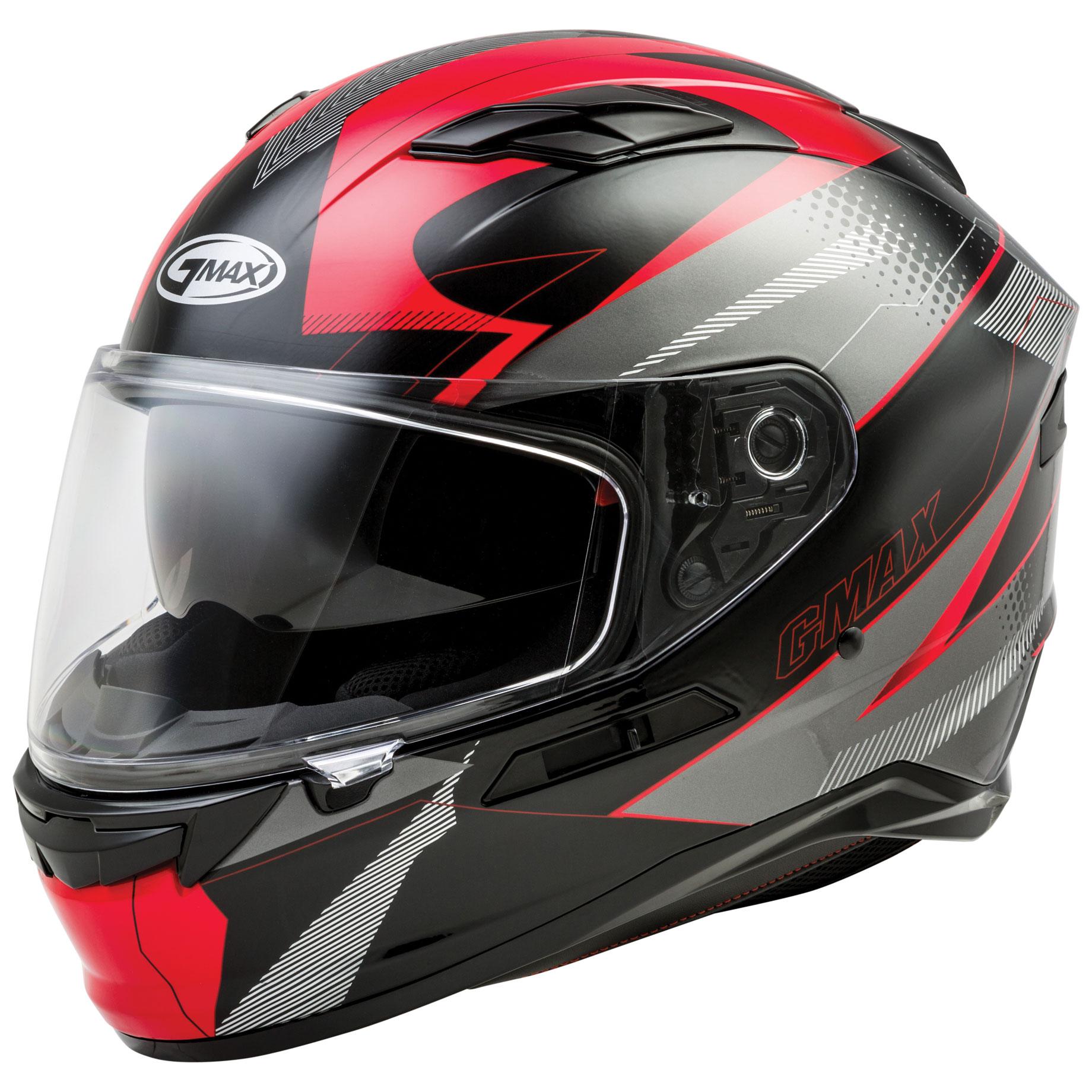 GMAX FF98 Apex Black/Red Full Face Helmet