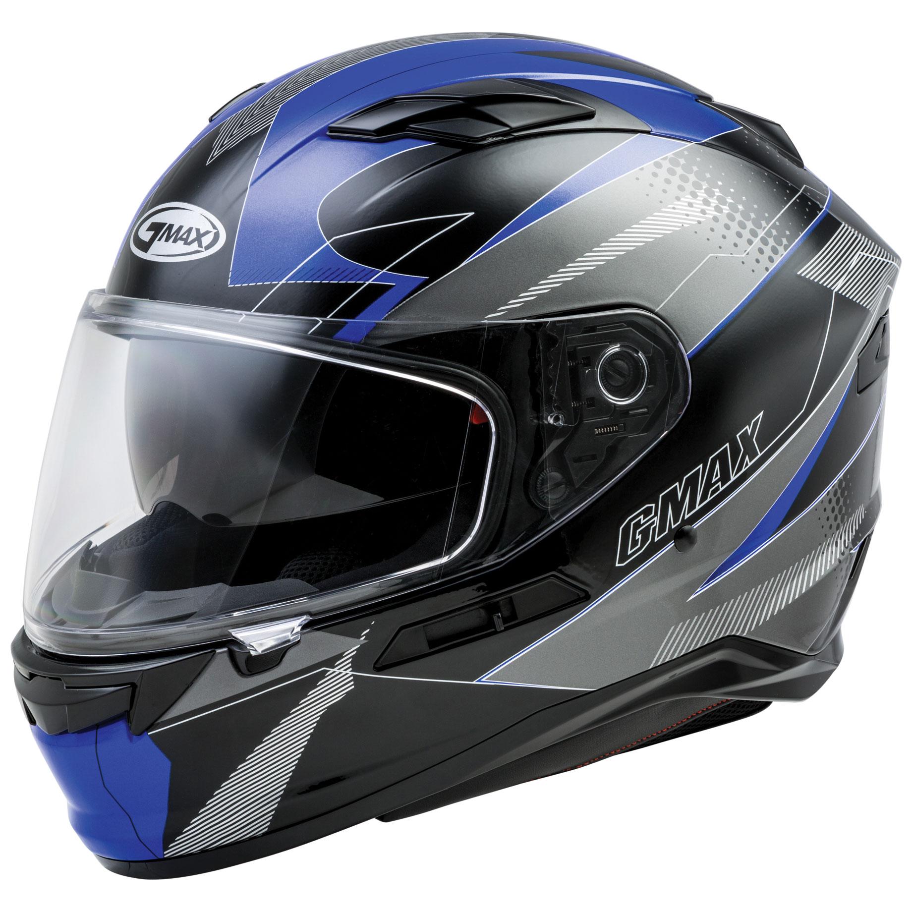 GMAX FF98 Apex Black/Blue Full Face Helmet