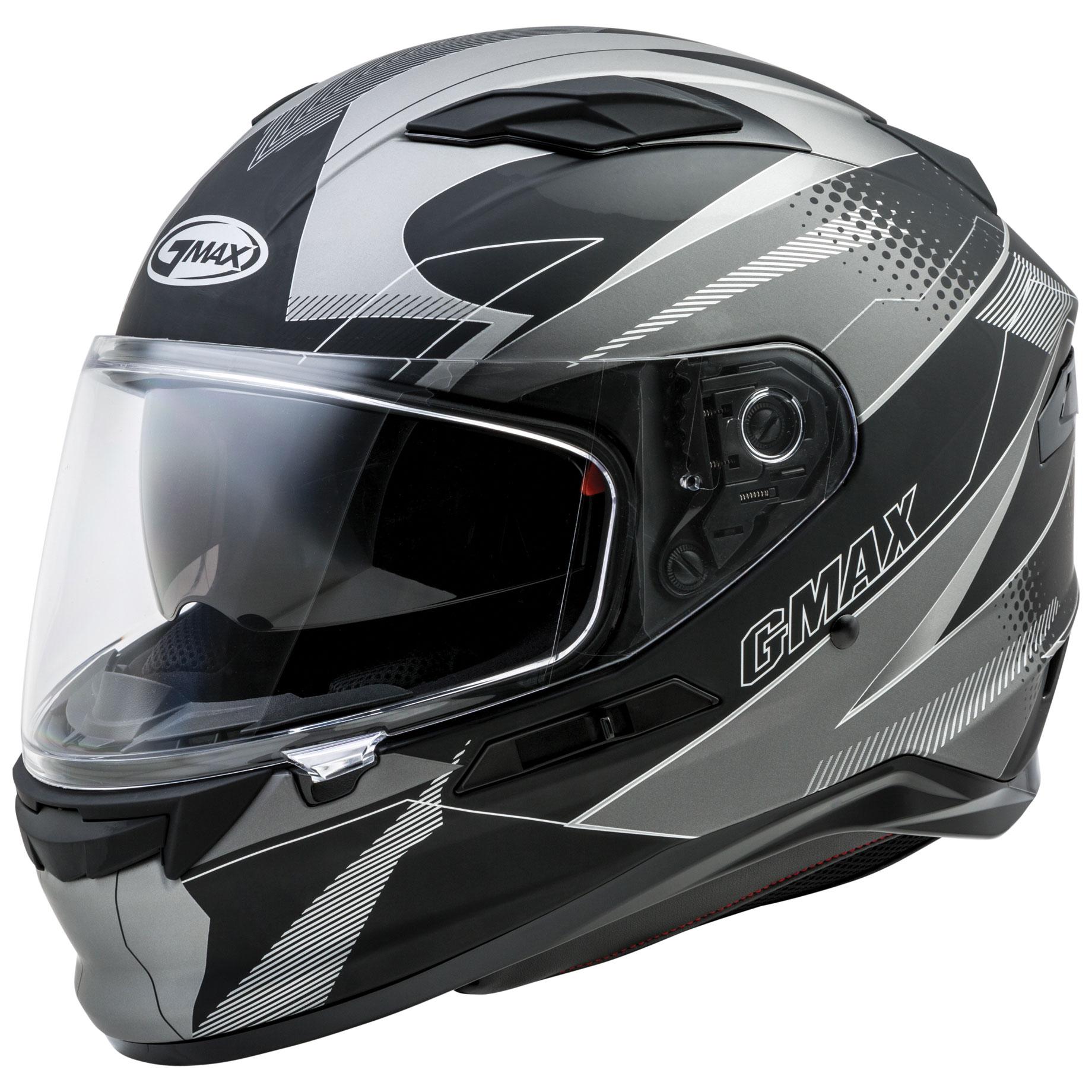 GMAX FF98 Apex Matte Black/Dark Silver Full Face Helmet