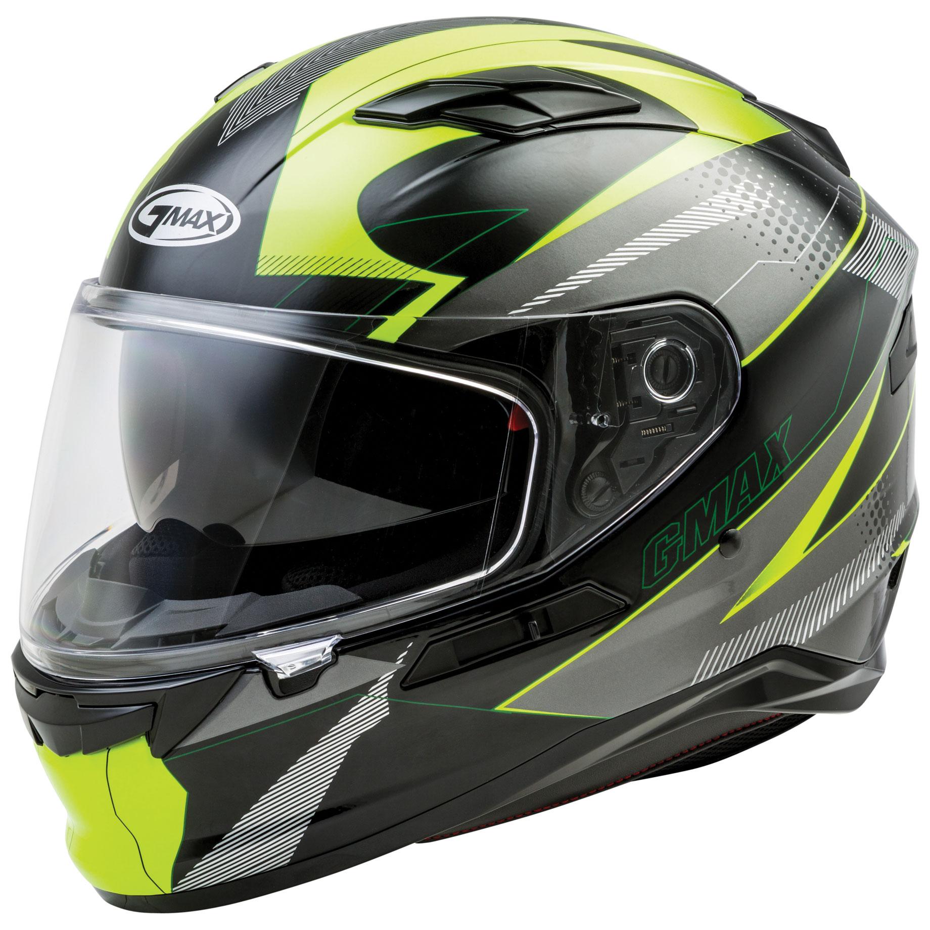 GMAX FF98 Apex Black/Hi-Viz Full Face Helmet