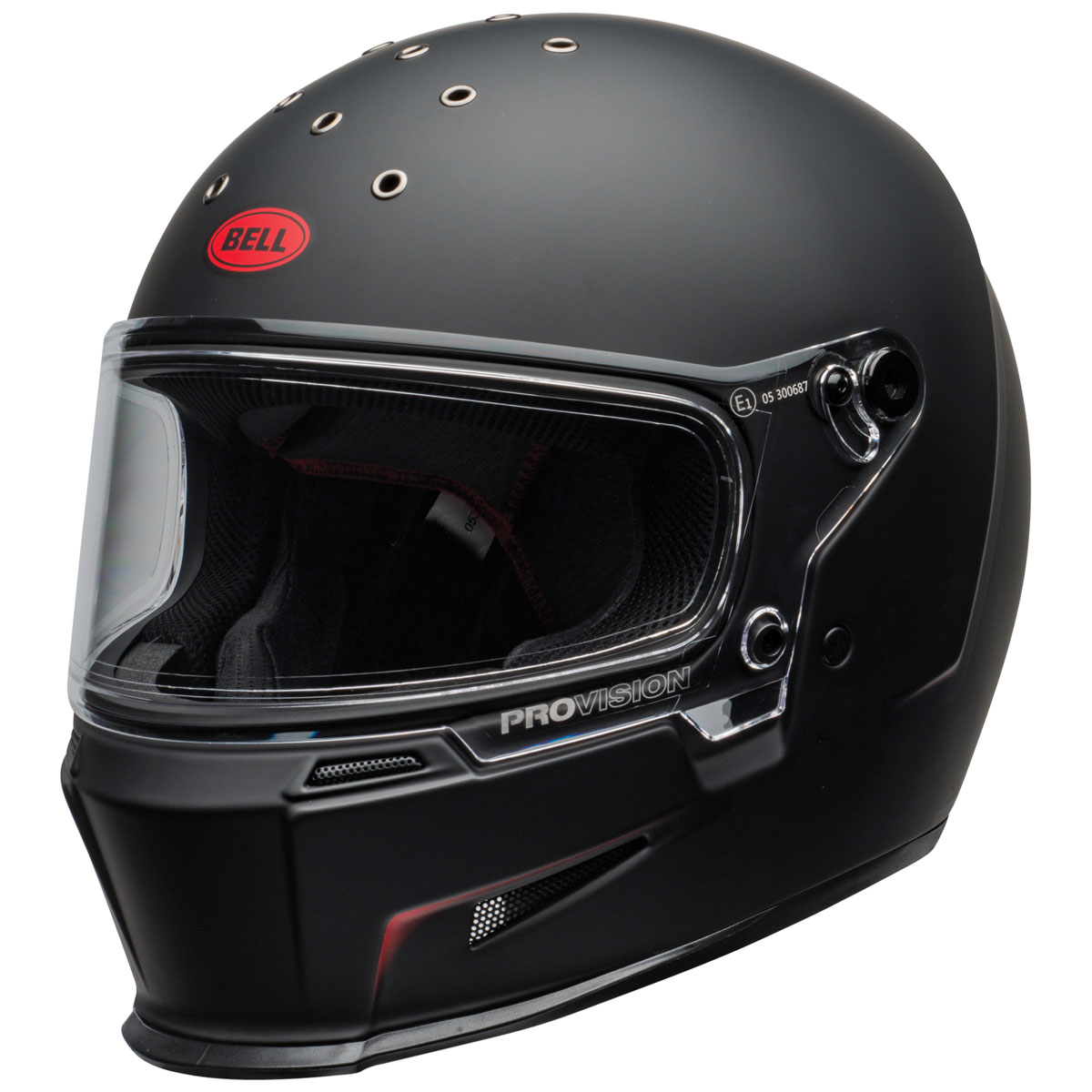 Bell Eliminator Vanish Matte Black/Red Full Face Helmet