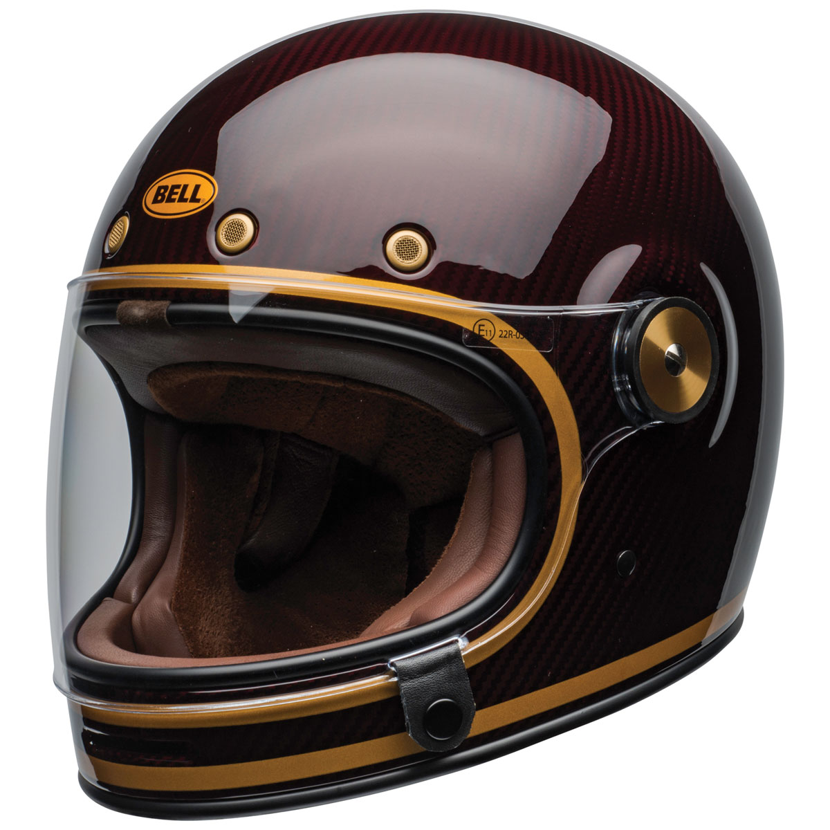 Bell Bullitt Carbon Transend Candy Red/Gold Full Face Helmet