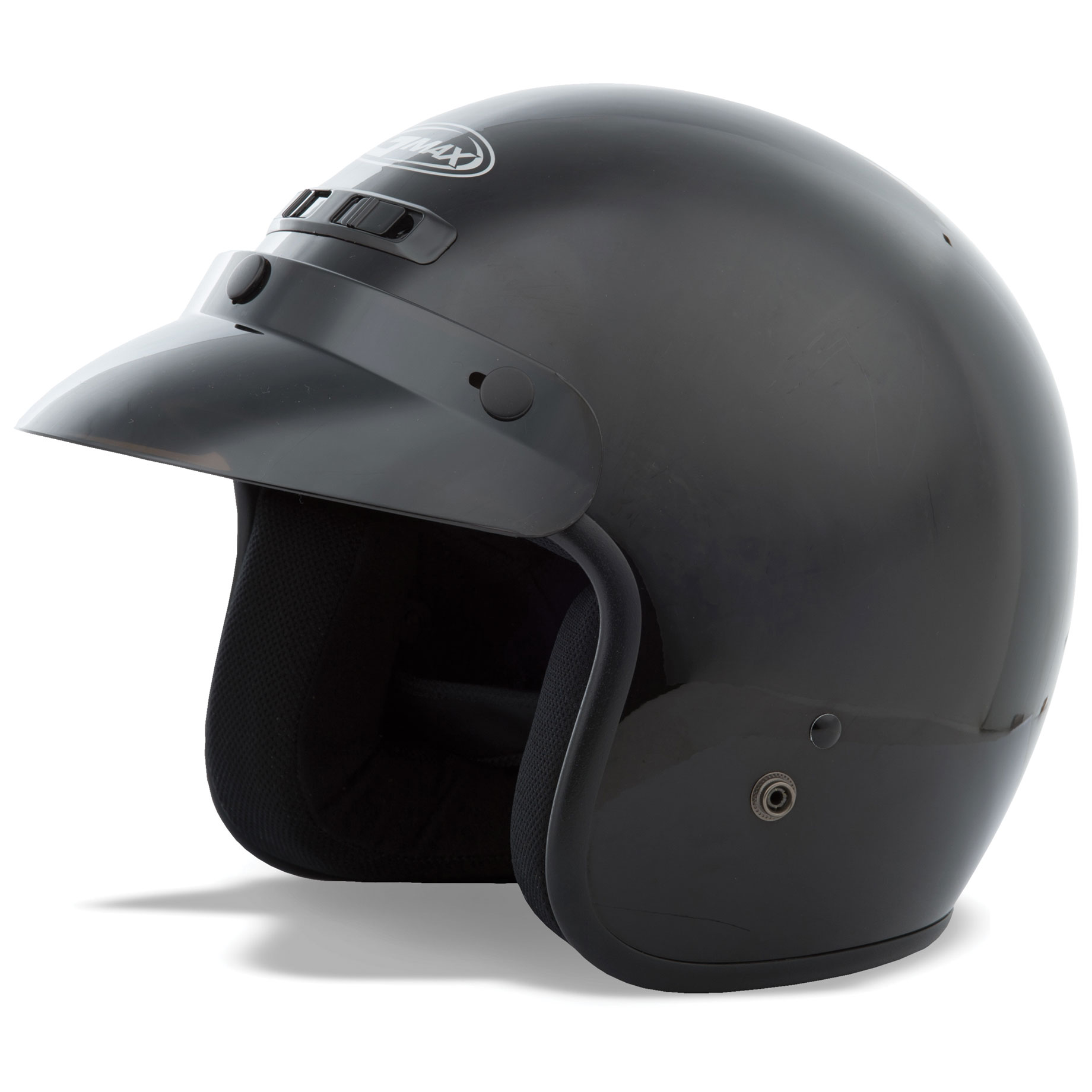 GMAX GM2 Gloss Black Open Face Helmet