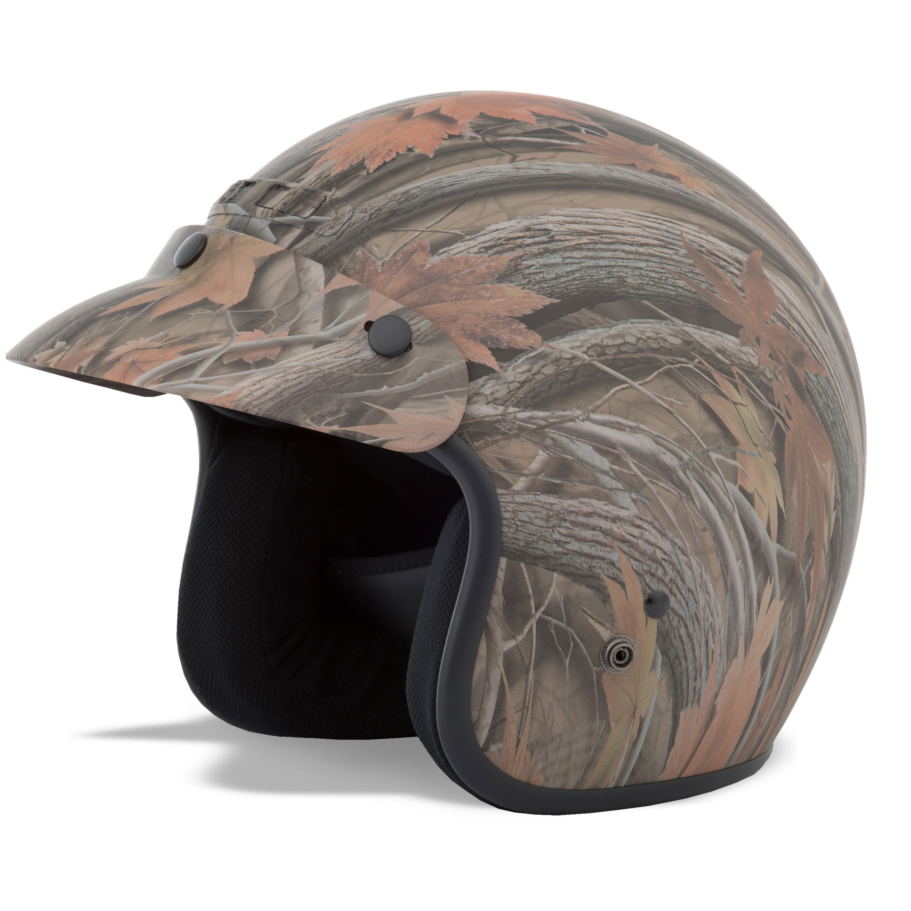 GMAX GM2 Leaf Camouflage Open Face Helmet
