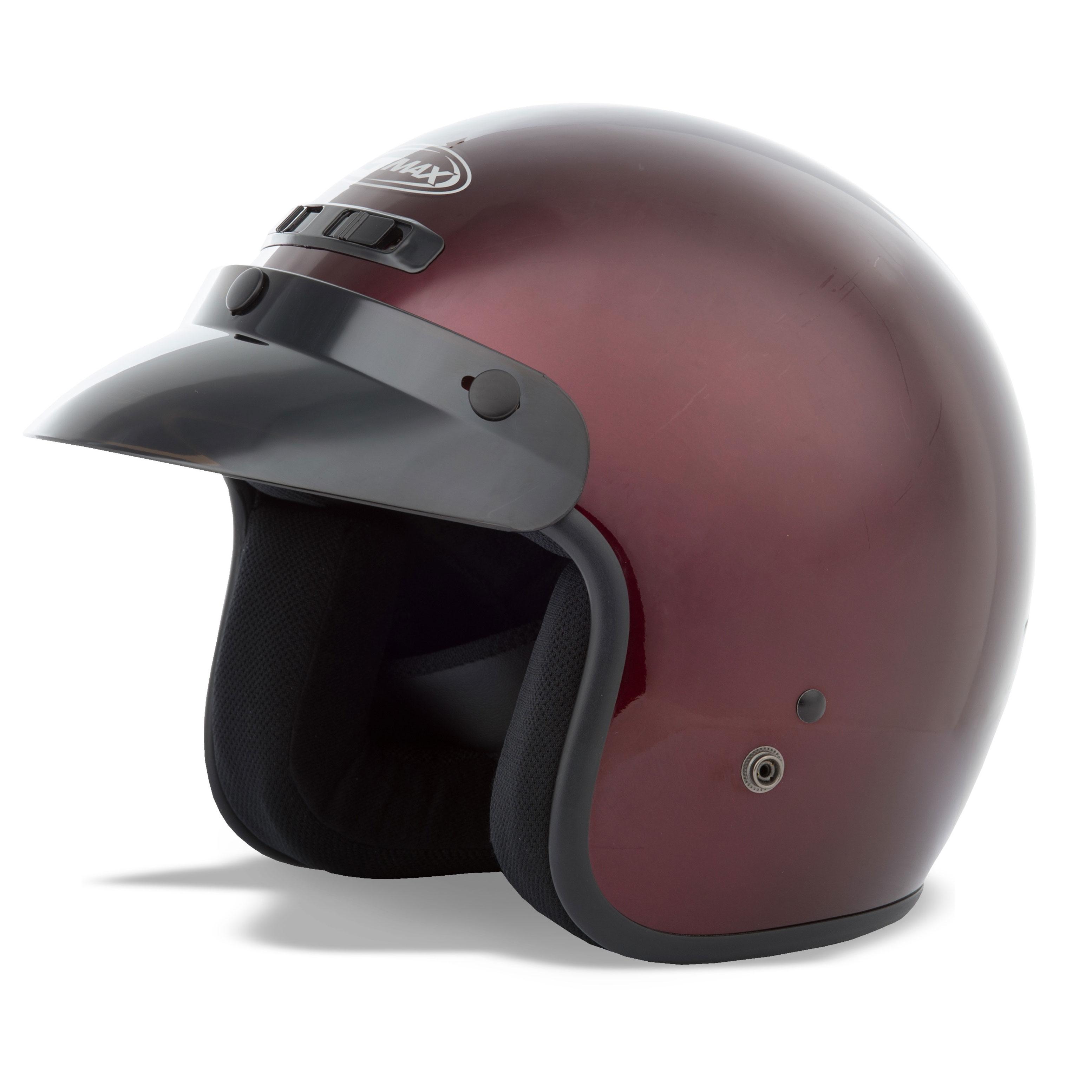 GMAX GM2 Youth Wine Open Face Helmet