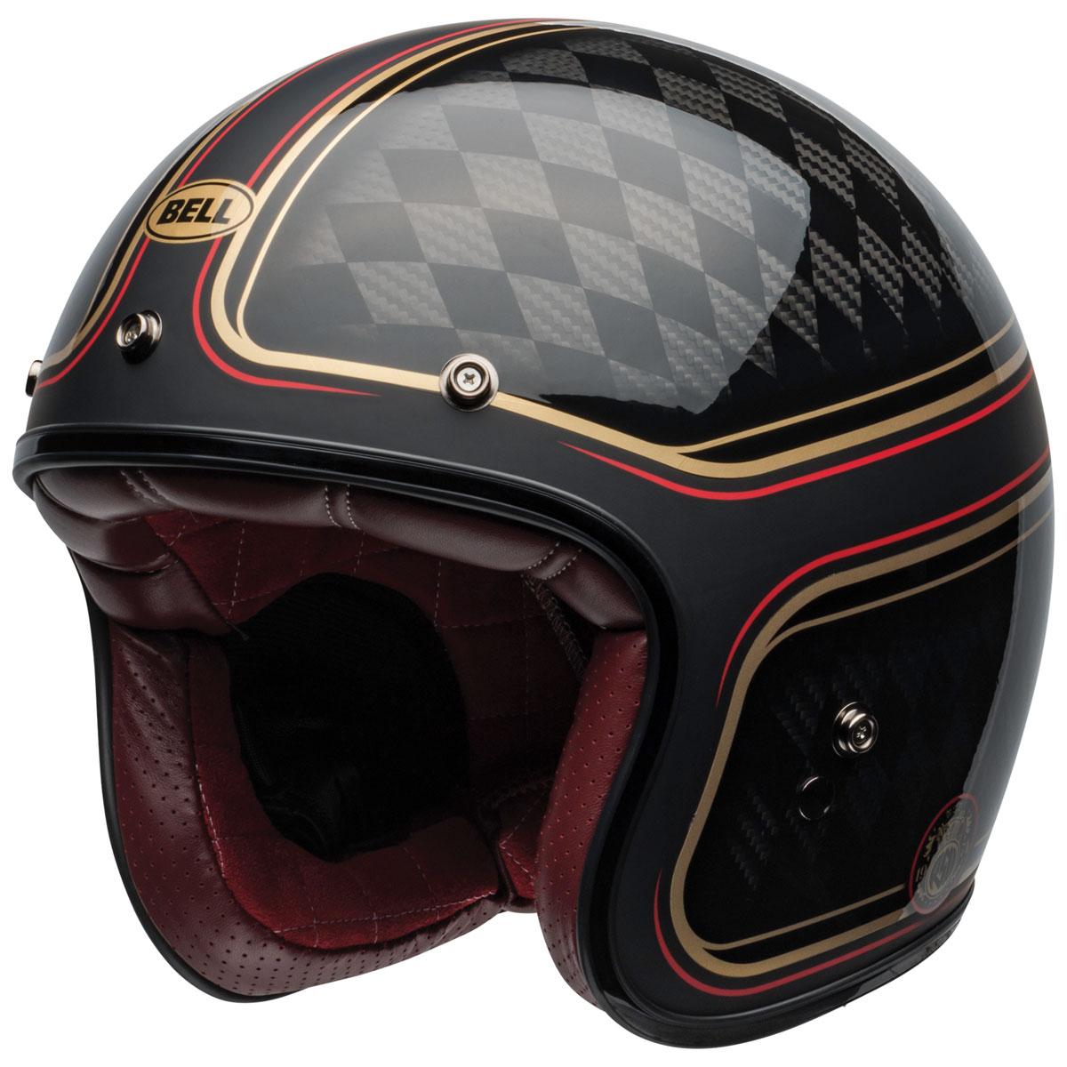 Bell Custom 500 Carbon RSD Checkmate Open Face Helmet