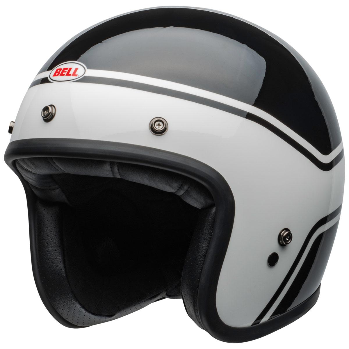Bell Custom 500 Streak White Open Face Helmet