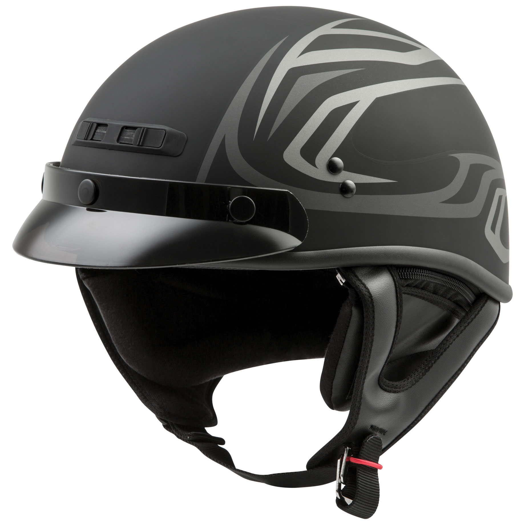 GMAX GM35 Derk Fully Dressed Half Helmet
