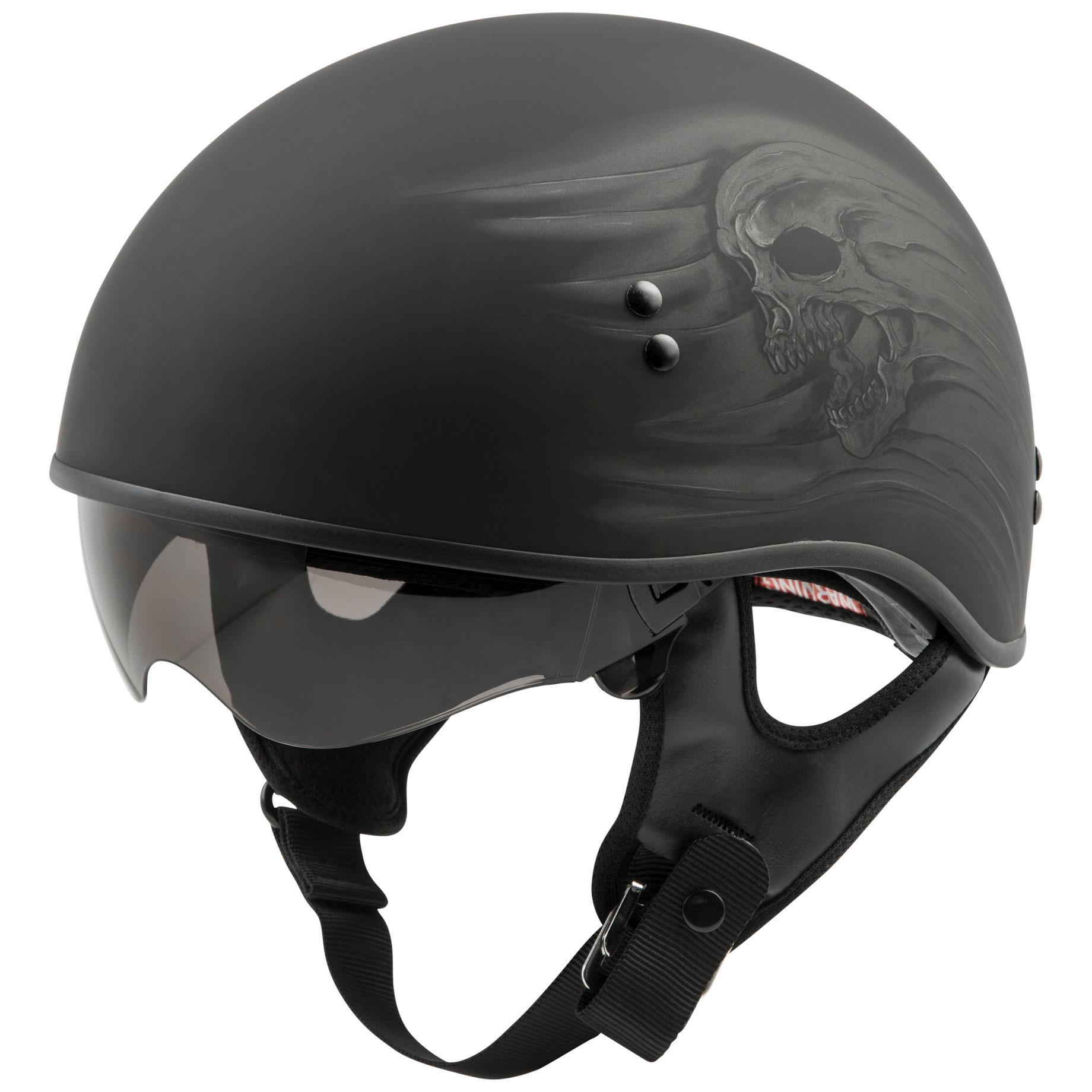 GMAX GM65 Ritual Matte Black Naked Half Helmet