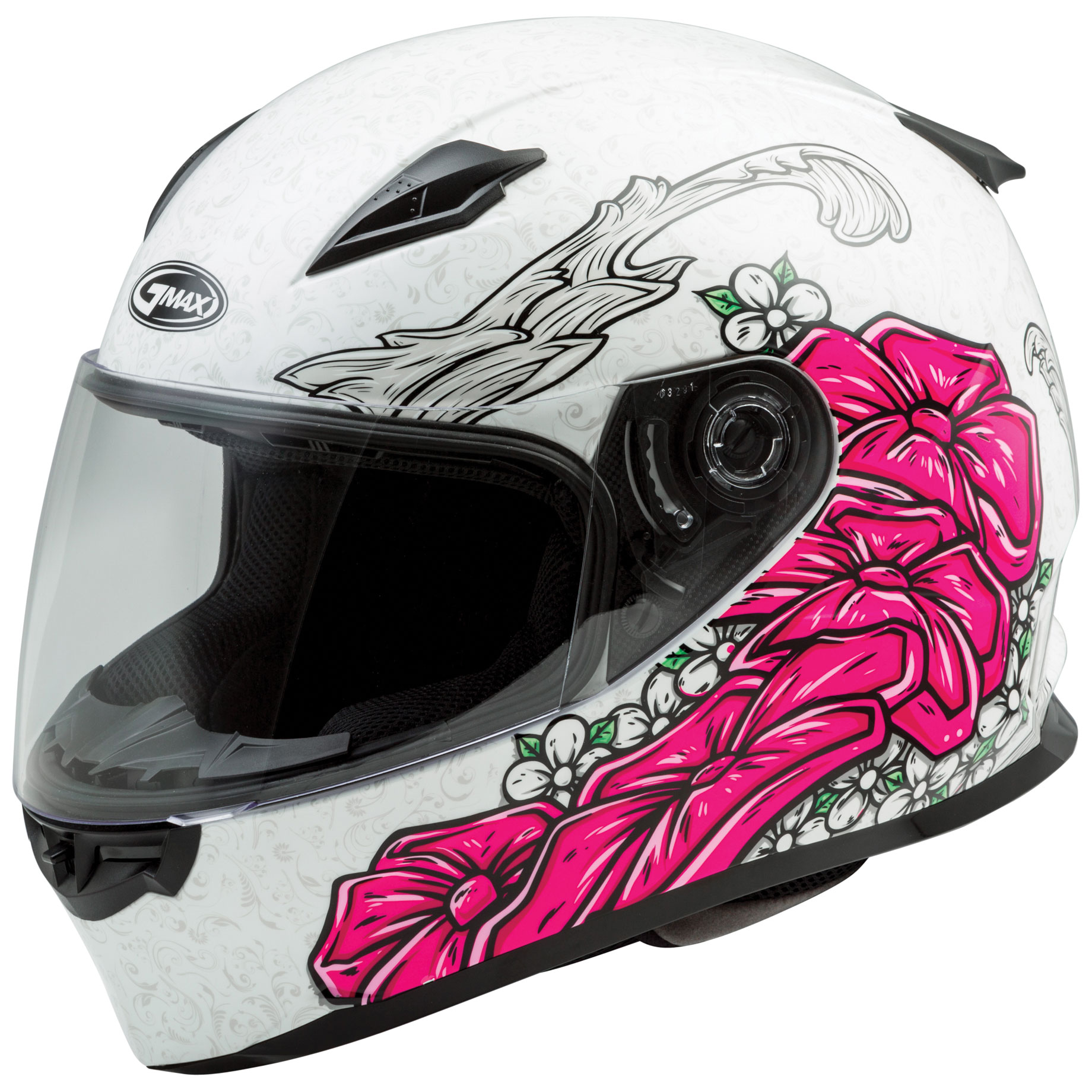 GMAX FF49 Yarrow Matte White/Pink Full Face Helmet