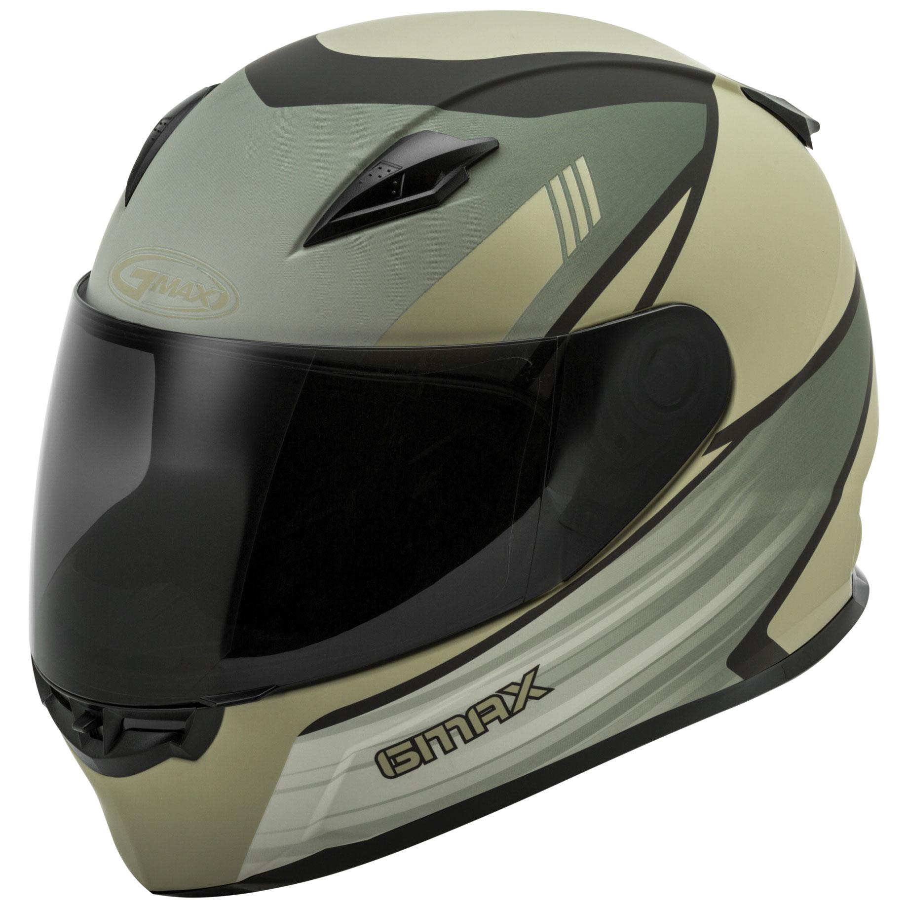 GMAX FF49 Deflect Tan/Khaki Full Face Helmet