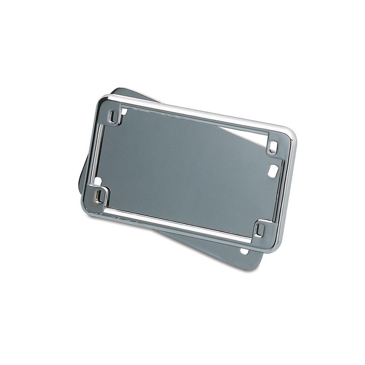 Kuryakyn Chrome License Frame and Back Plate Set