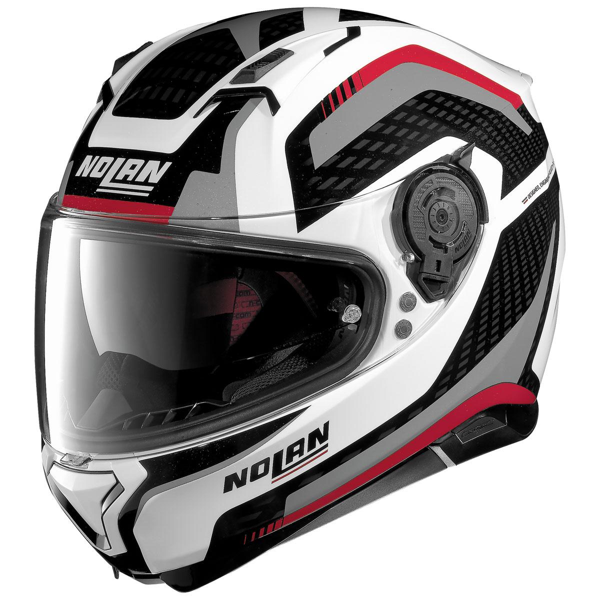 Nolan N87 Arkad Metallic White Full Face Helmet