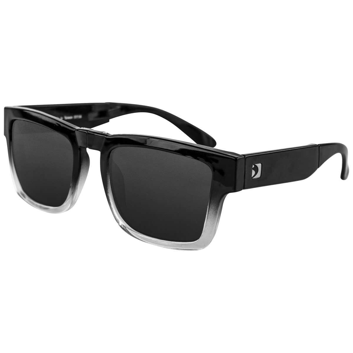 Bobster Brix Black Gradient Sunglasses with Smoke Lens