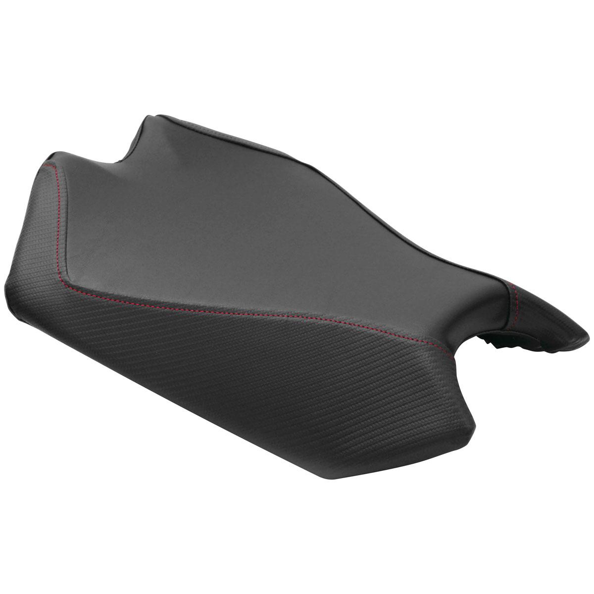 Luimoto Baseline Rider Seat Cover Sport Black/Carbon Fiber Black/Red