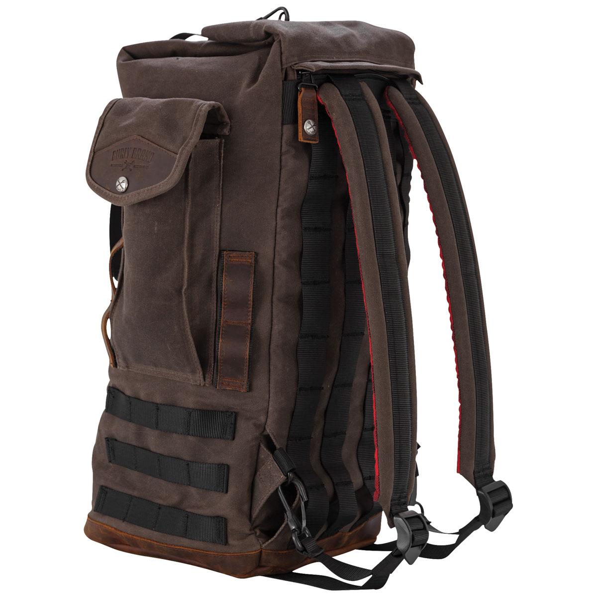 Burly Brand Voyager Voyager Dark Oak Sissy Bar Backpack