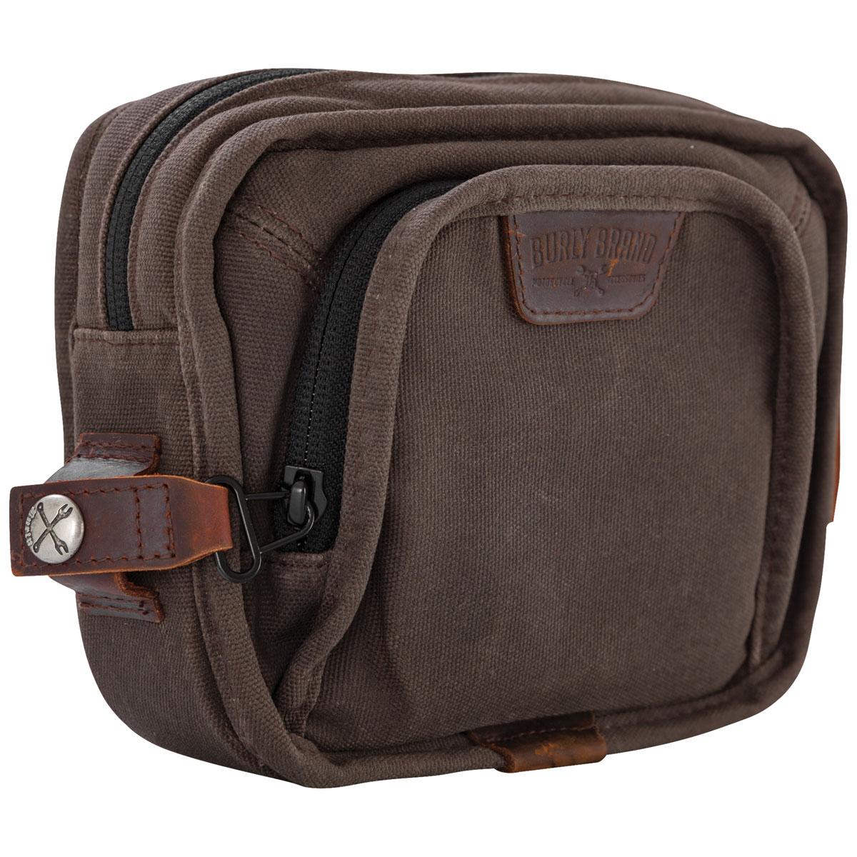 Burly Brand Voyager Dark Oak Handlebar Bag