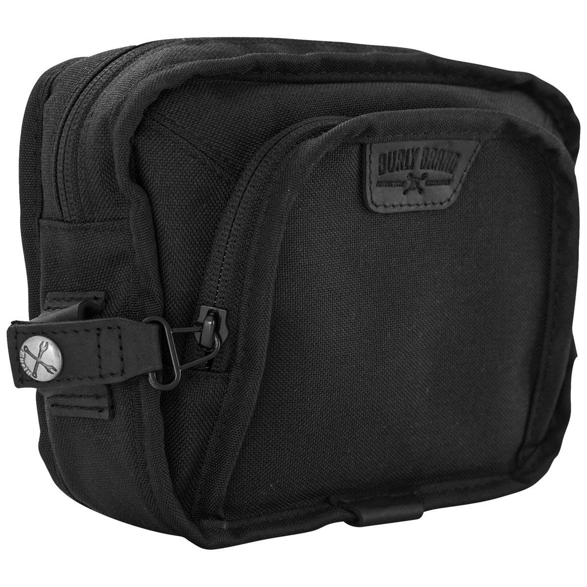 Burly Brand Voyager Black Handlebar Bag