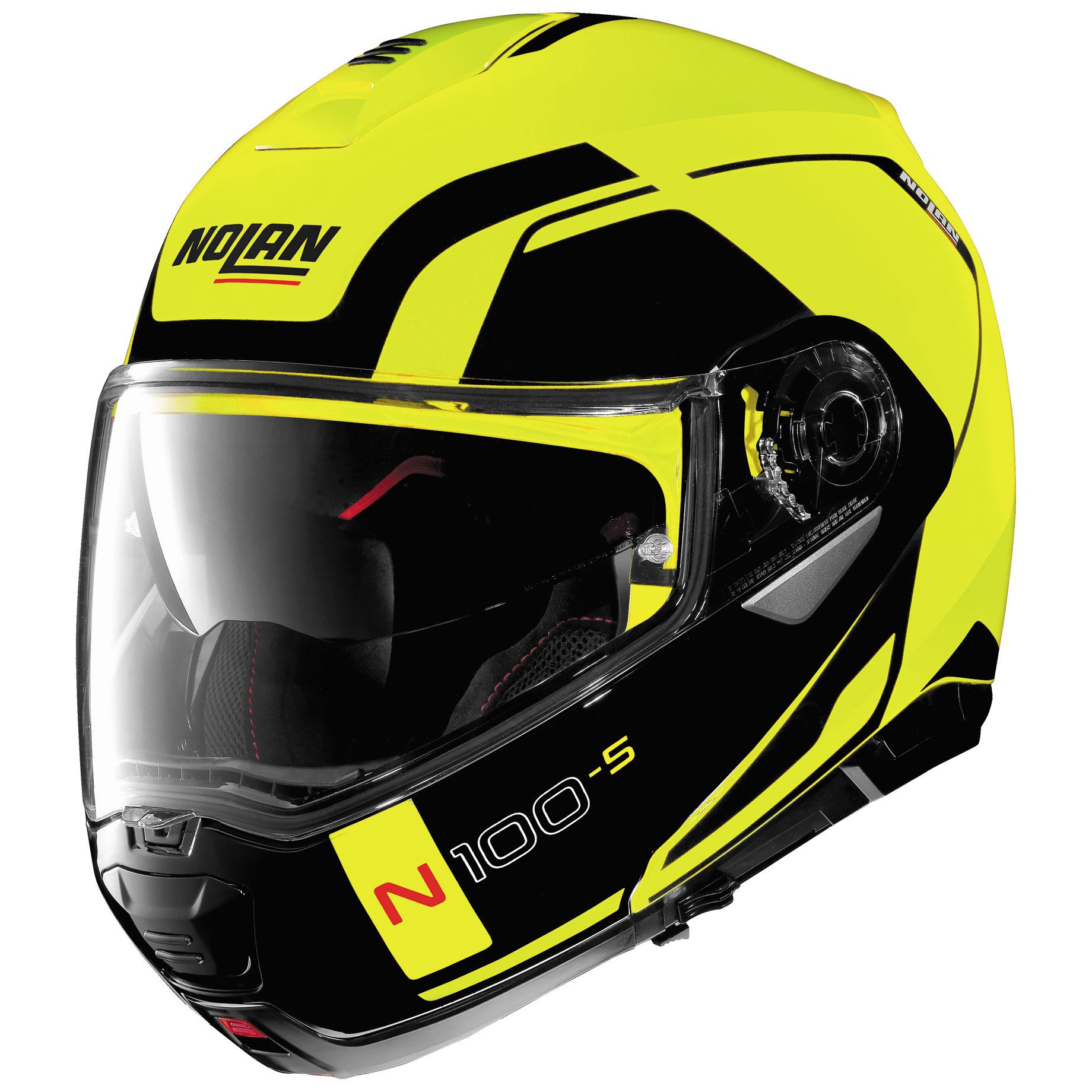 Nolan N100-5 Consistency Flat Yellow Modular Helmet