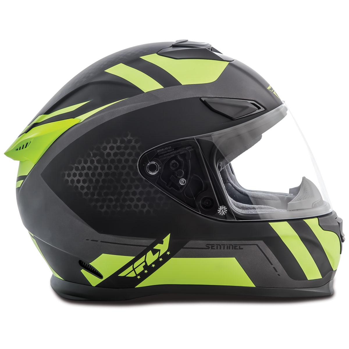 FLY Racing Street Sentinel Mesh Black/Hi-Vis Full Face Helmet