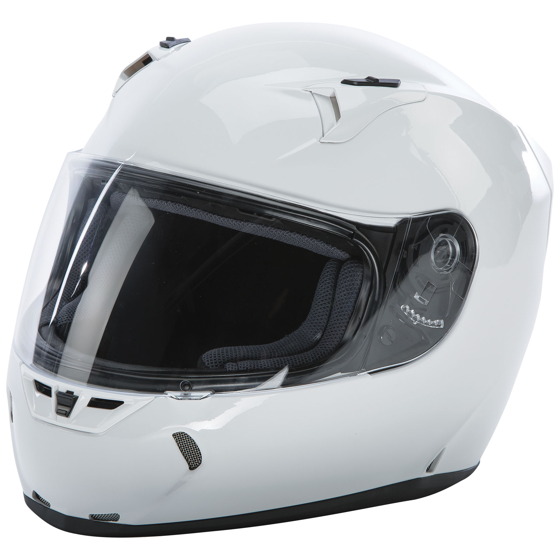 FLY Racing Street Revolt FS Gloss White Full Face Helmet