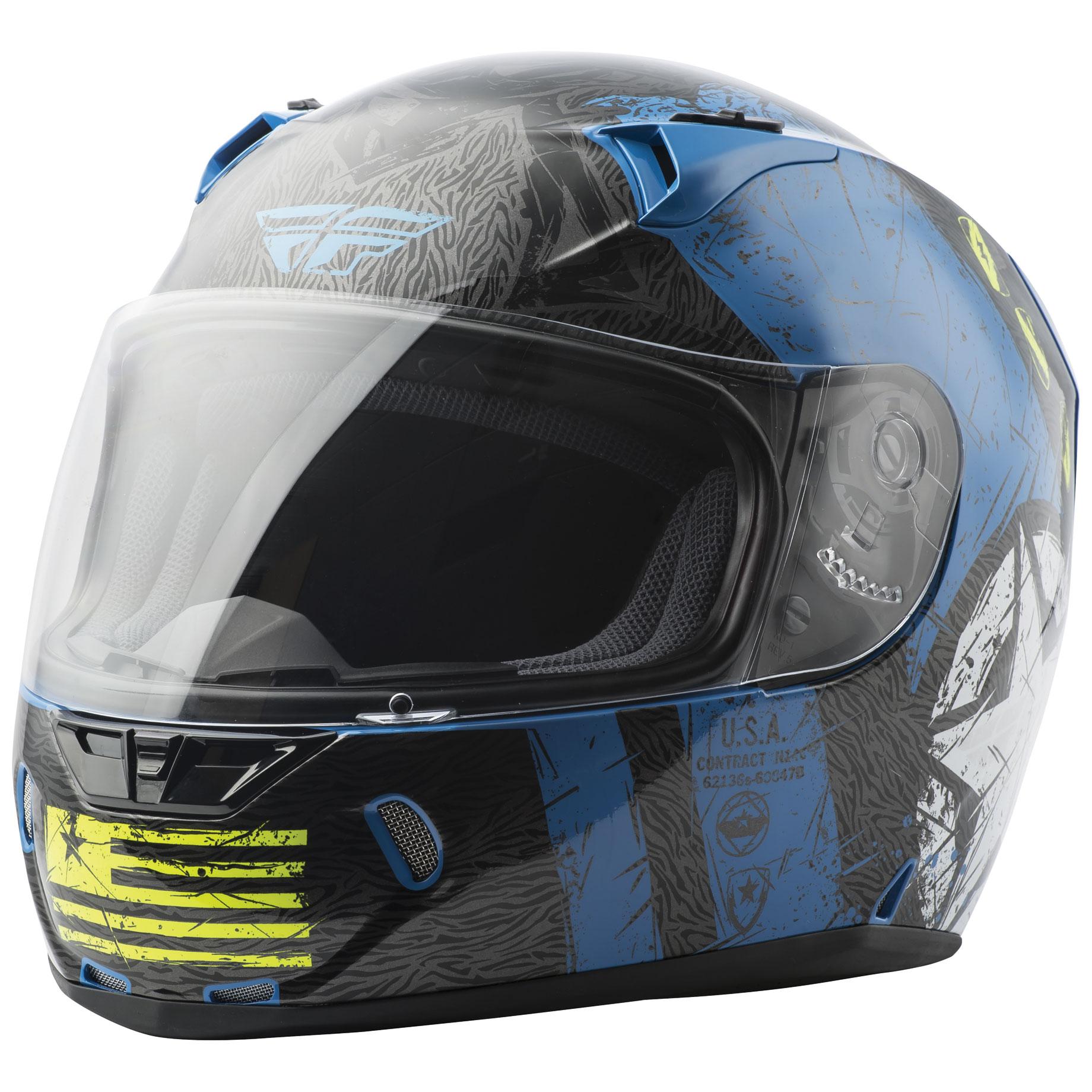 FLY Racing Street Revolt FS Liberator Gloss Blue/Hi-Vis Full Face Helmet