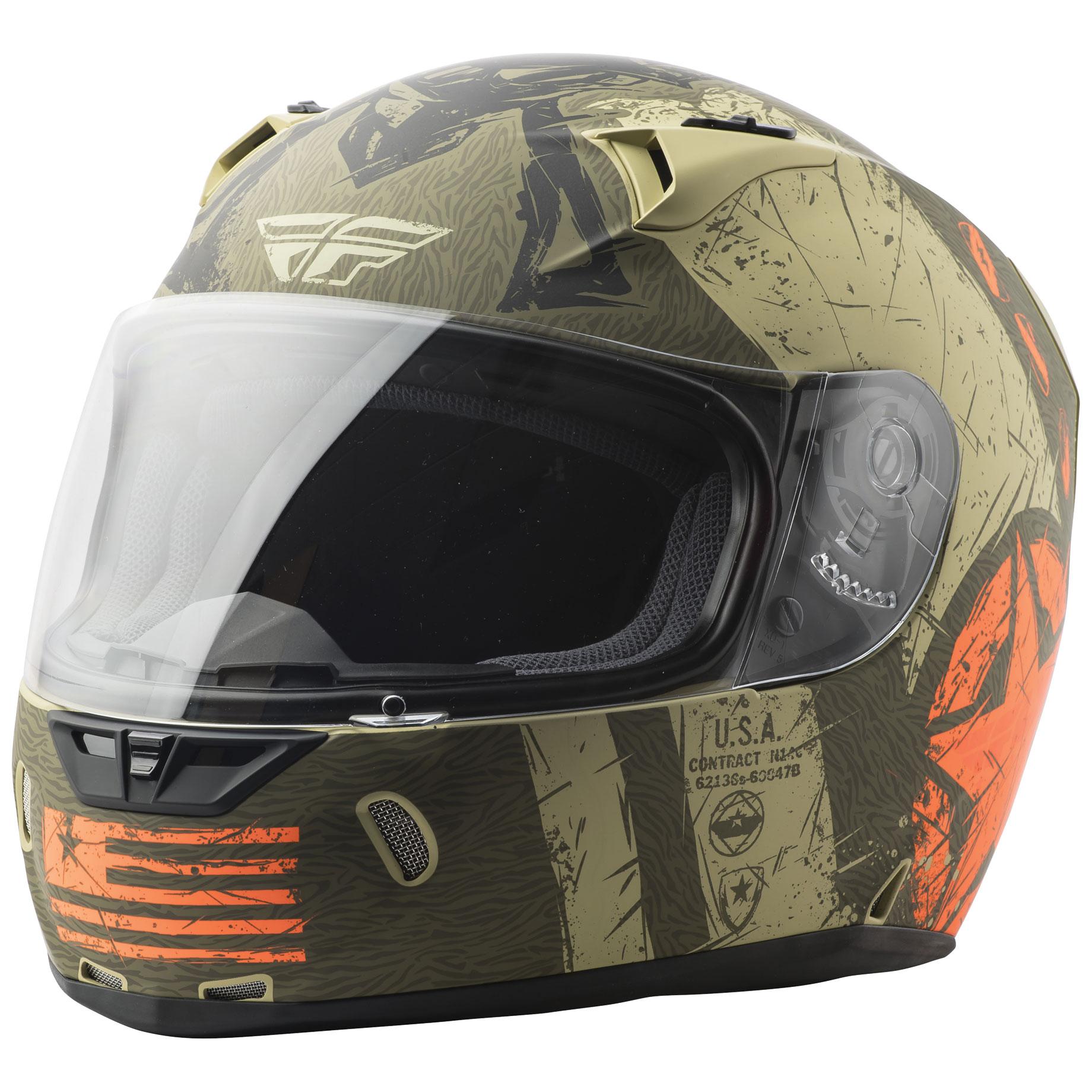 FLY Racing Street Revolt FS Liberator Brown/Orange Full Face Helmet