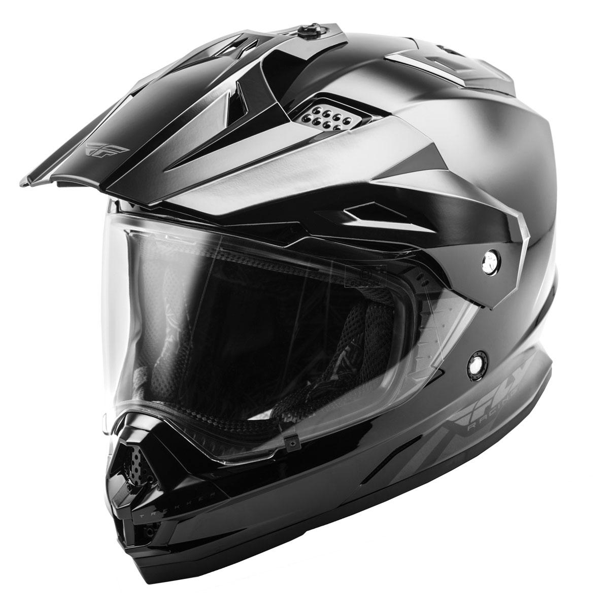 FLY Racing Street Trekker Gloss Black Dual Sport Helmet