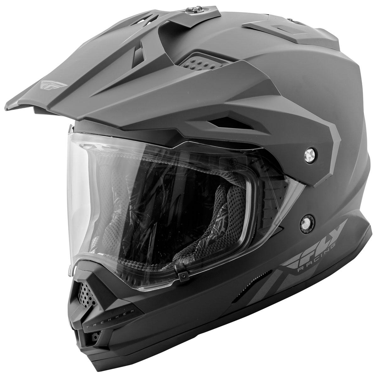 FLY Racing Street Trekker Matte Black Dual Sport Helmet