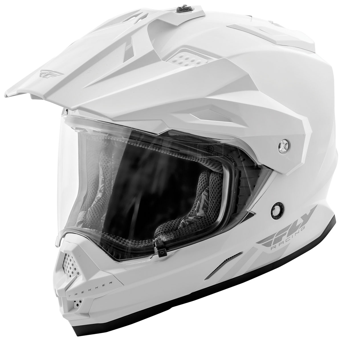 FLY Racing Street Trekker White Dual Sport Helmet