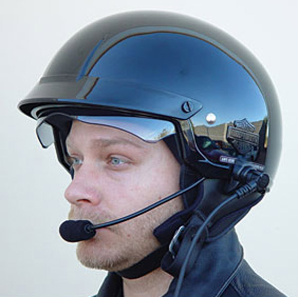J&M Performance Series Custom Headset HJC Shorty-style Helmet