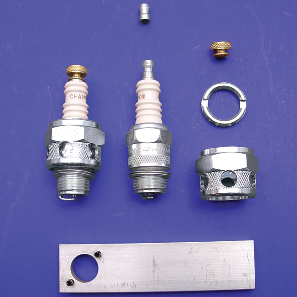 Spark Plug Conversion >> V Twin Manufacturing Conversion Kit For Champion 18mm Spark Plugs 49 0976