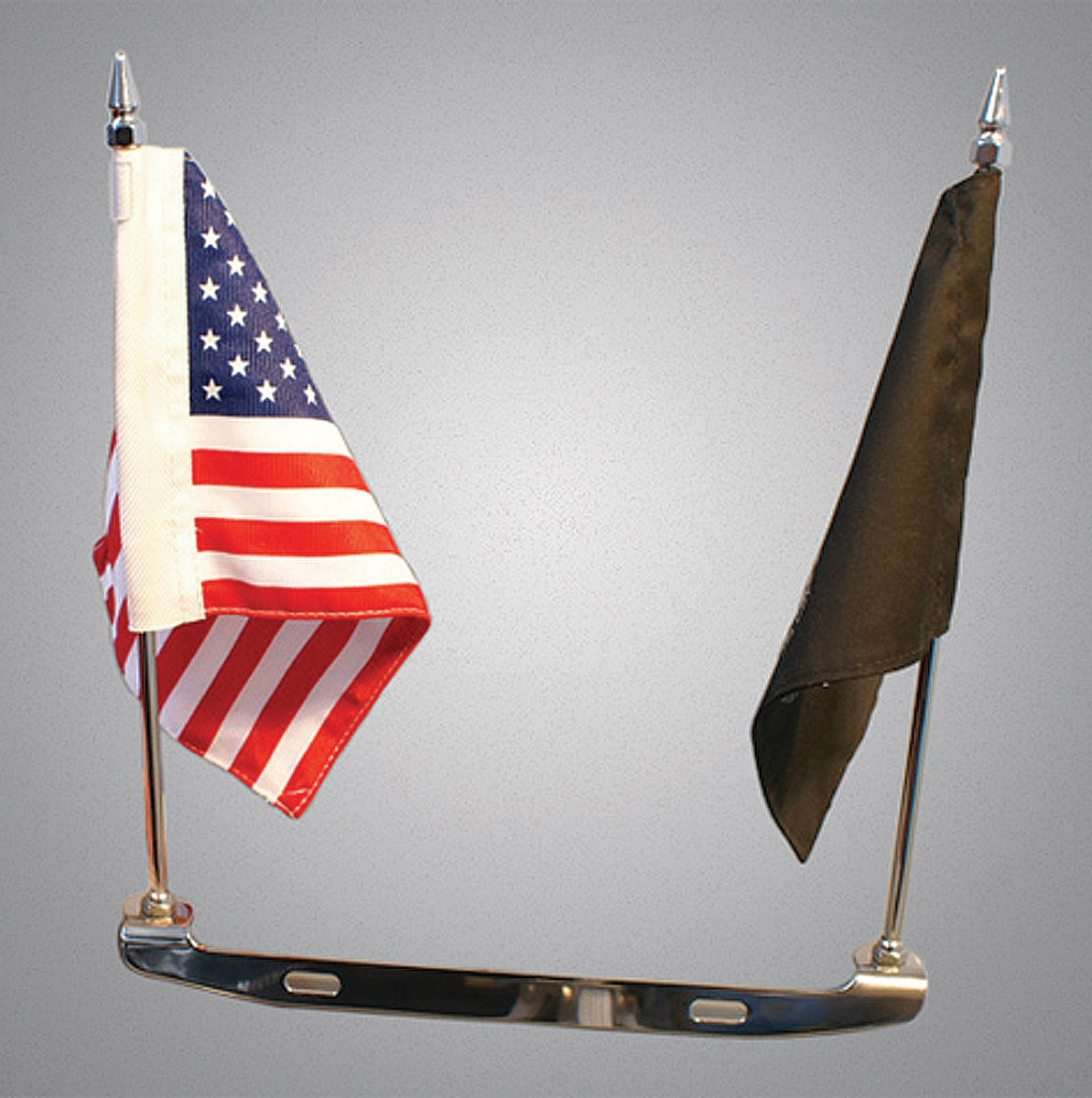 Motorcycle License Plate Mount Double Flag Holder Flag Pole