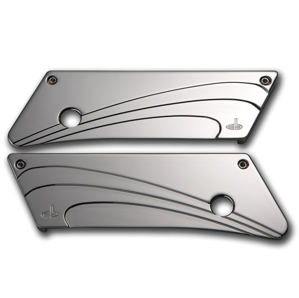 Carl Brouhard Designs Saddlebag Latch Cover Waterfall Chrome